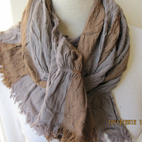 Crinkle stripe Long scarf man camel brown beige cinnamon Scarf,2013 fashioN-woman-MAN SCARVES ,crinkle fabric scarf,Turkey Scarf gifts