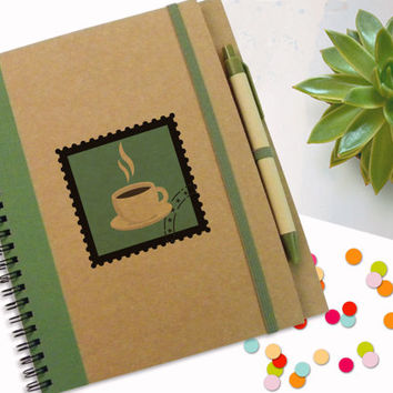 Notebook, Custom  Notebook, first thing tomorrow morning Journal, Designed Notebook, Spiral Notebook, Writing Pad, Recycled Paper