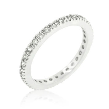 Darla Delicate Eternity Stackable Ring | 1ct | Cubic Zirconia