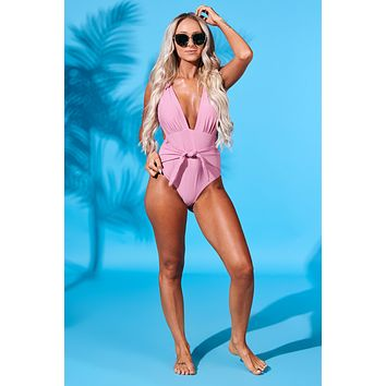 Go With The Waves Swimsuit (Blush)