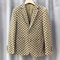 GUCCI Classic Autumn Winter Fashion Women Men Retro Double G Jacquard Cardigan Jacket Coat
