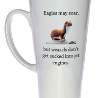 Weasels and Eagles Coffee or Tea mug, Latte Size