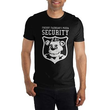 Five Nights At Freddys Freddy Fazbear's Pizza Security Women's Black T-Shirt Tee Shirt