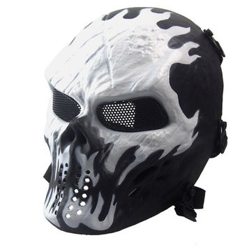 Halloween Mask Airsoft Paintball Full Face Skull Skeleton Mask Tactical Military
