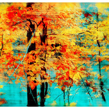 Autumn tapestry, 8x10, art, photography, nature, Original, Fine Art photography, Fall decor, Home decor, trees