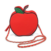 Red & Gold Apple Purse
