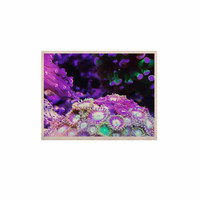 """Liz Perez """"CORAL REEF"""" Purple Black KESS Naturals Canvas (Frame not Included)"""