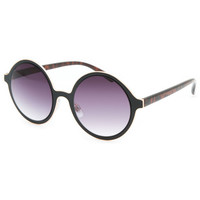 Full Tilt Two Tone Round Sunglasses Black One Size For Women 25719910001