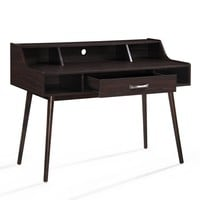 Belinda Mid Century Modern Finished Fiberboard Home Office Desk