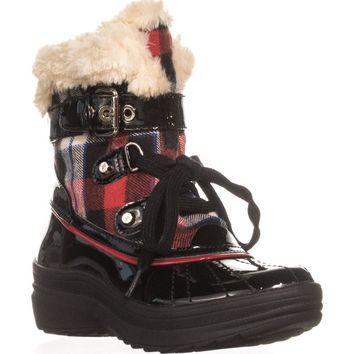 Anne Klein Gallup Snow Boots, Red Multi, 7.5 US