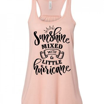 Sunshine Mixed With A Little Hurricane Country Music Tank Top