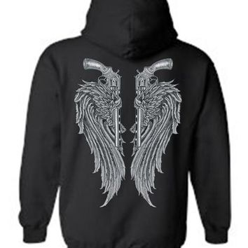 Women's/Unisex Zip-Up Hoodie Beautiful Angel Wings