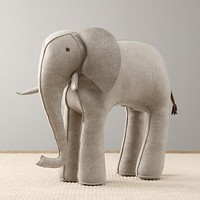 Oversized Wool Felt Elephant