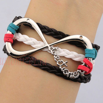 "One Direction Infinity Bracelet forever ""Directioner"" Infinite 1D Boy Band The best gift"