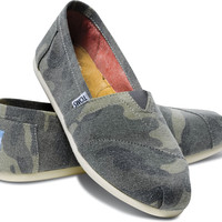 GREEN WASHED CAMO CANVAS WOMEN'S CLASSICS