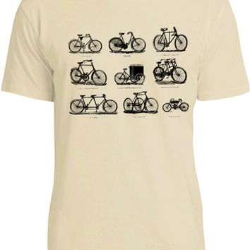 Vintage Bicycles (Black) Mens Fine Jersey T-Shirt