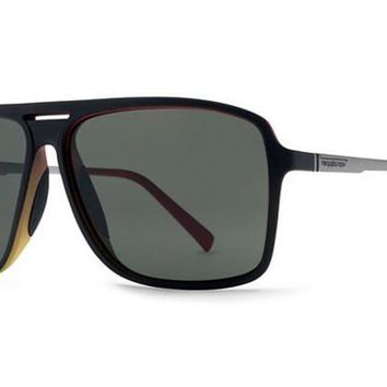 VonZipper - Hotwax Vibrations Black Satin VIS Sunglasses, Vintage Grey Lenses