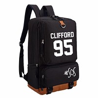 5SOS bag Five 5 Seconds Of Summer  backpack for teenagers Women's boy girl's Student School Bags travel Shoulder Bag  Clifford