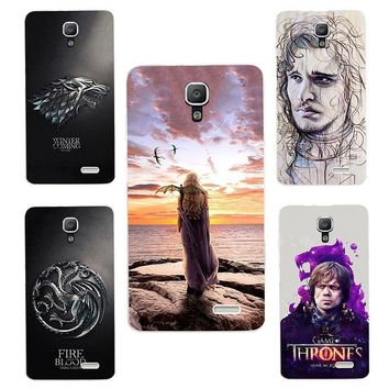 for Game of Thrones Daenerys Drogon Jon Snow tyrion lannister silicone Phone cover Case Fundas Case for lenovo A536 A 536 A358T