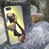 The Pug King for iphone 4/4s, iphone 5/5s/5c, samsung s3/s4 case sover in feronika