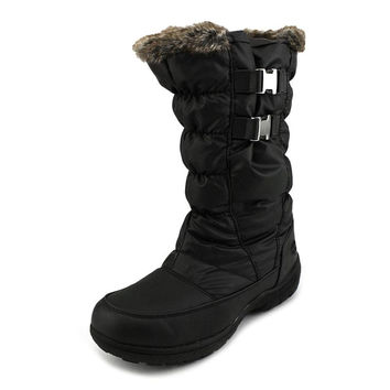 Totes Womens Beatrix Snow Boot Available in Wide Width and Wide Calf Fit Black