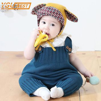 New 2017 Baby Girls Knitting Rompers Cute Overalls Newborn Baby Clothes Spring Autumn Baby Girl Boy Sleeveless Romper Jumpsuit