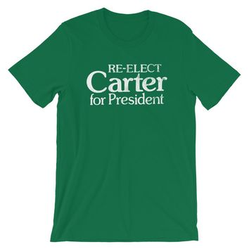 1980 Re-elect Carter for President T-Shirt