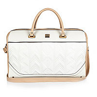 White embroidered weekend bag - luggage - bags / purses - women