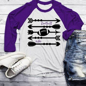 Men's Football Tribe T Shirt Arrows Football Tshirt Raglan 3/4 Sleeve Boho Football Shirts Game Day TShirts