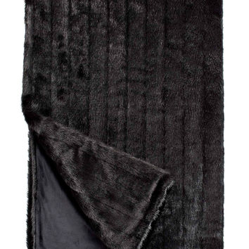 Black Mink Signature Series Faux Fur Throw Blanket by Fabulous Furs