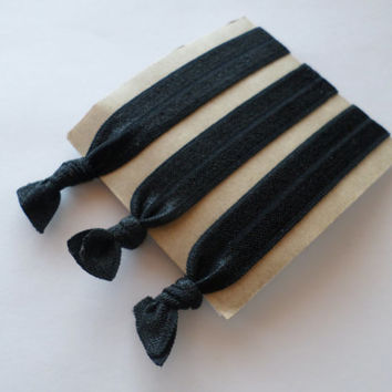 No Crease Hair Ties-Black