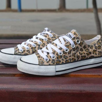 Casual Leopard Canvas Shoes
