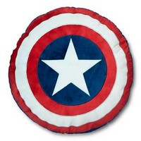 """Captain America® Shield Pillow - 16""""x14"""" - Blue&Red"""
