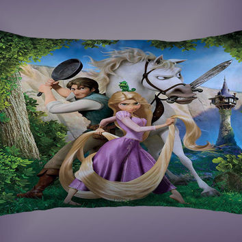 Disney Tangled Rapunzel High Quality Rectangle Pillow Case 16 x 24 , 20 x 26