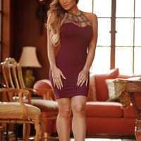 Party Perfect Dress - Burgundy