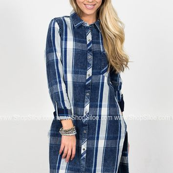 Dear John Denim Plaid Tunic Dress