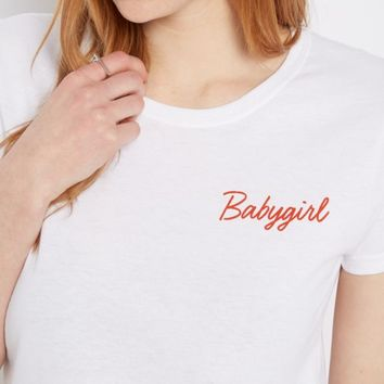 Babygirl Cropped Tee | Graphic Tees | rue21
