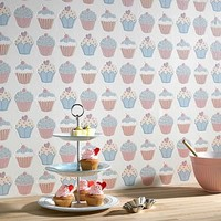 Pastels Cupcake Wallpaper at debenhams.com