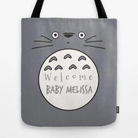 Custom tote, Welcome baby totes, Baby shower tote bag, Kids tote bag, Customized tote bag, Custom kids gift, Kids tote with zipper
