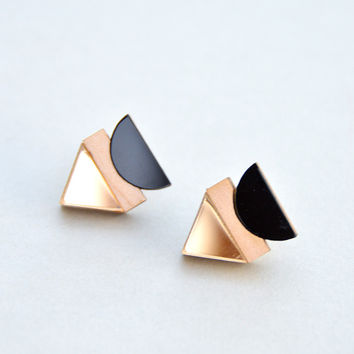Balance Stud Earrings in Gold by Nylon Sky