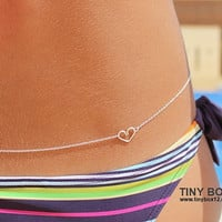 Sterling Silver  Belly Chain - Body Chain - Body Jewelry - Love Jewelry - Love Belly Chain - Silver Body Jewelry - Stunning  Belly Chain