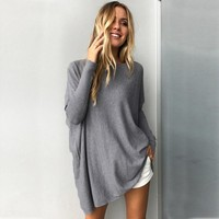Long Sleeve Multiple Color Solid Maternity Sweater