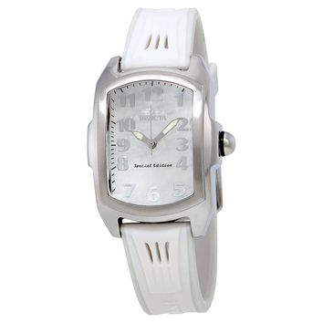 Invicta Lupah Mother of Pearl Dial Interchangeable Rubber Starp Ladies Watch