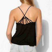 Silence + Noise Strappy-Back Cami- Black