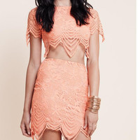 Cute two piece lace dress high quality