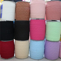 Lace Ribbon Tape 35mm DIY Embroidered Net Lace Trim Fabric For Sewing wedding decoration DIY heaband zakka lace