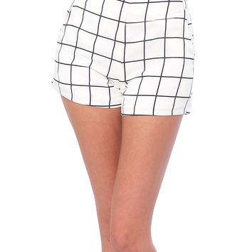 In Balance Grid Shorts - White/Black