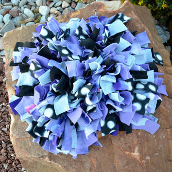 Snuffle Mat Blue Fleece Dog Enrichment Activity