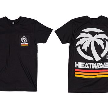 Heat Wave 4 Speed Pocket T-Shirt Black