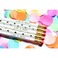 Taylor Elliott Designs Set of 5 Pencils- Like a Boss